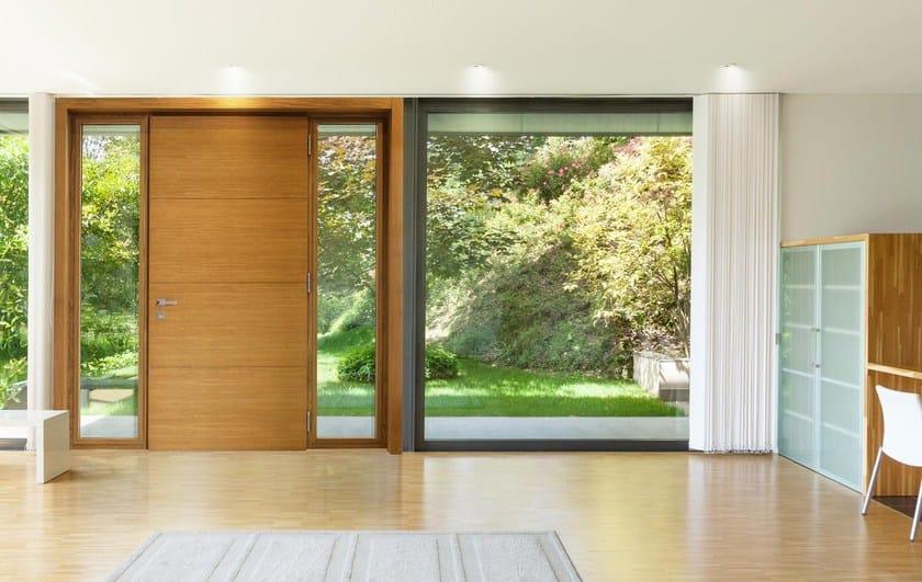 Porta d 39 ingresso in alluminio e legno linea hp by dcs group - De carlo finestre ...