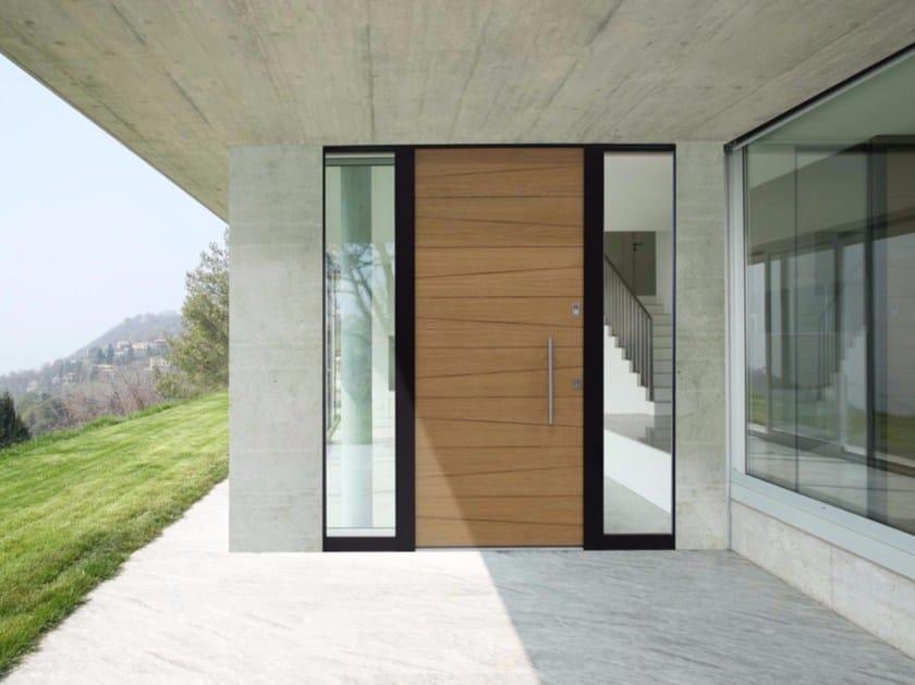 Aluminium and wood entry door LINEA HP by De Carlo