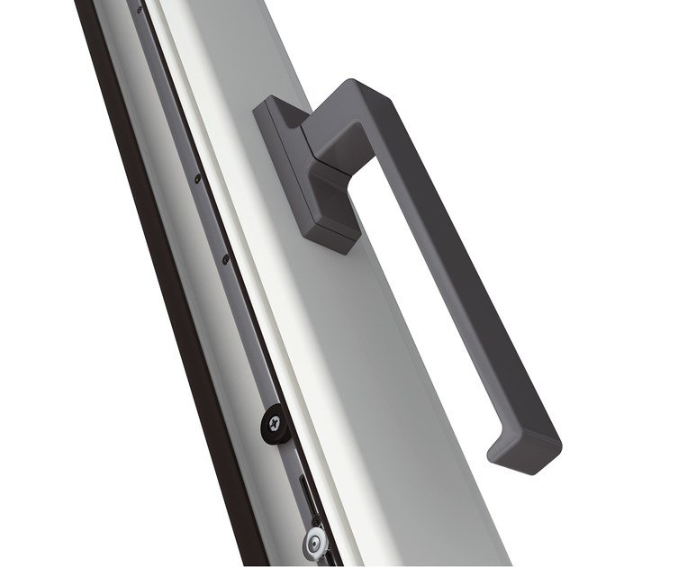 Contemporary style metal window handle LINEA ITALIA | Contemporary style window handle by MASTER