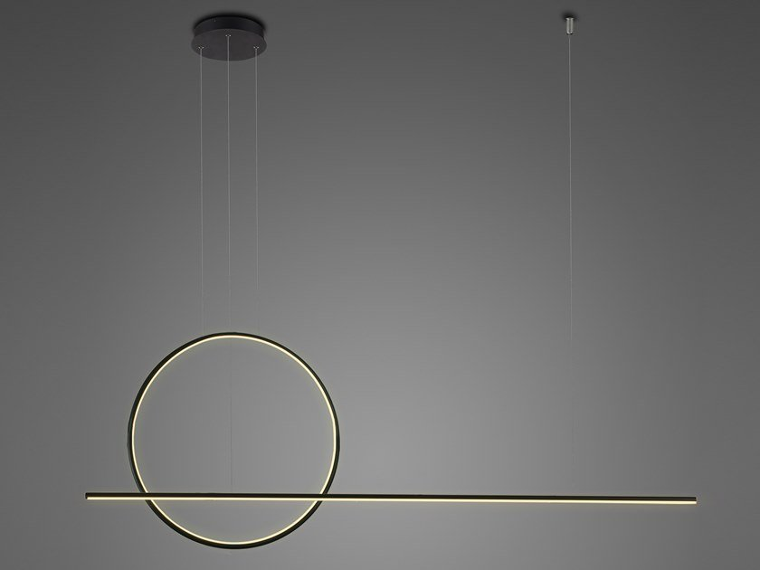 Lampada a sospensione a LED a luce indiretta in alluminio in stile moderno LINEA NO. 2 by Altavola Design