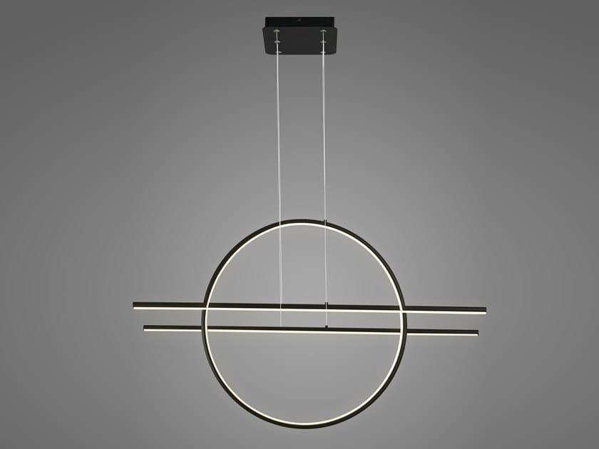 Lampada a sospensione a LED in alluminio LINEA NO. 3 by Altavola Design