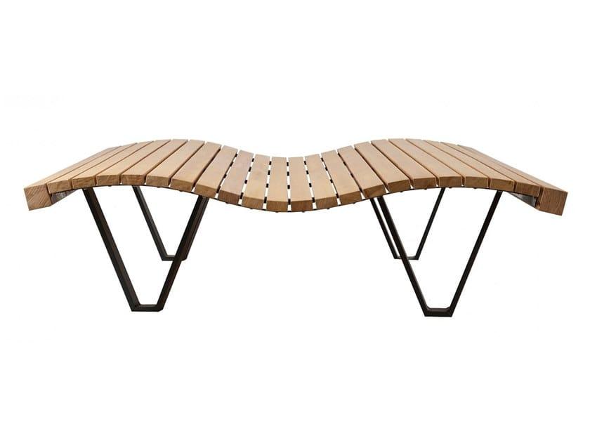 Seduta da esterni in legno LINEA ONDA by Euroform W