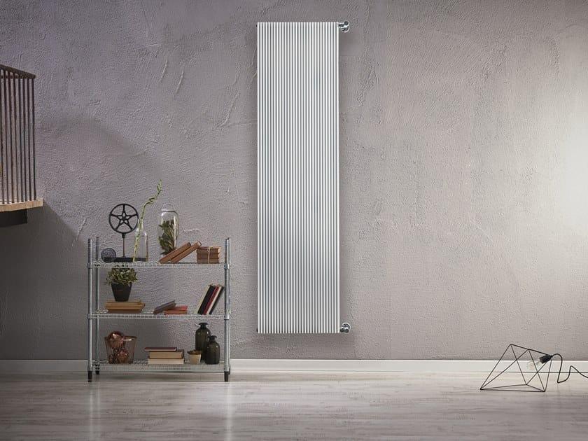 Wall-mounted radiator LINEA by RIDEA