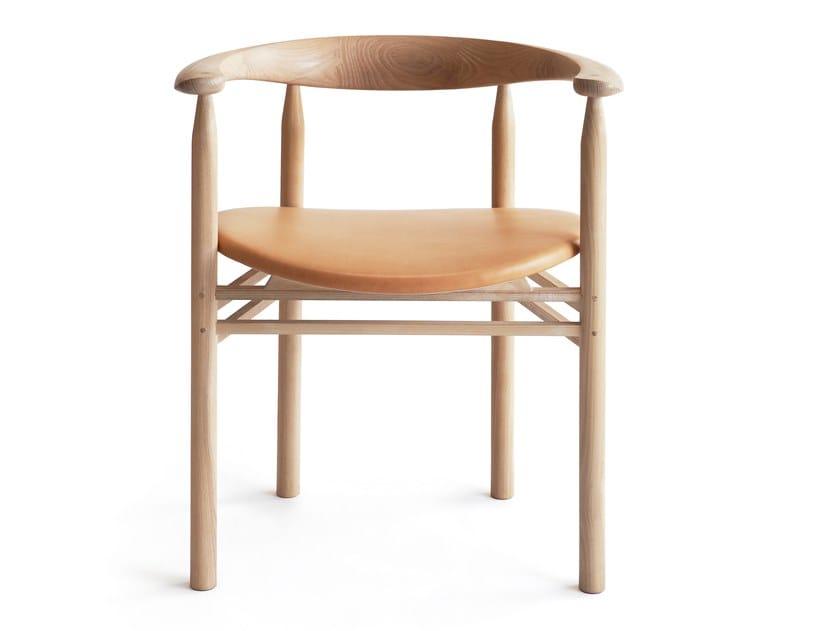 Sedia in frassino con braccioli LINEA RMT6 by Nikari