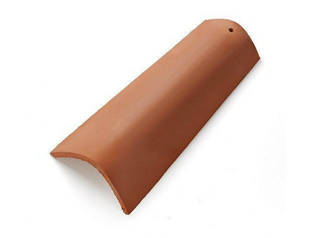 Clay bent roof tile Linea Rossa by Vardanega Isidoro