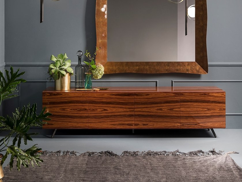 Rosewood sideboard with doors LINEA | Rosewood sideboard by RIFLESSI