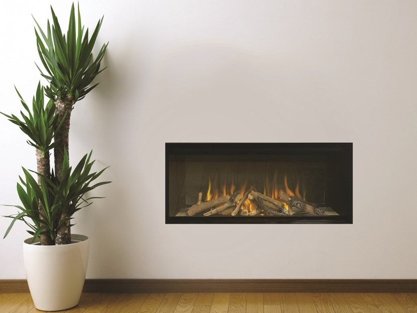 Open electric built-in fireplace LINEA S 700 by BRITISH FIRES