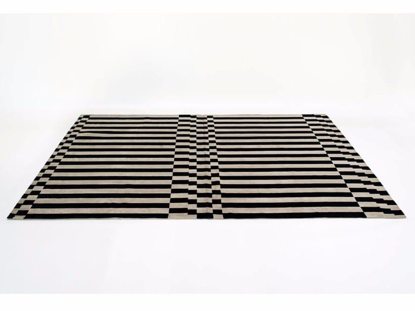 Rectangular striped rug LINEA by Tacchini Edizioni