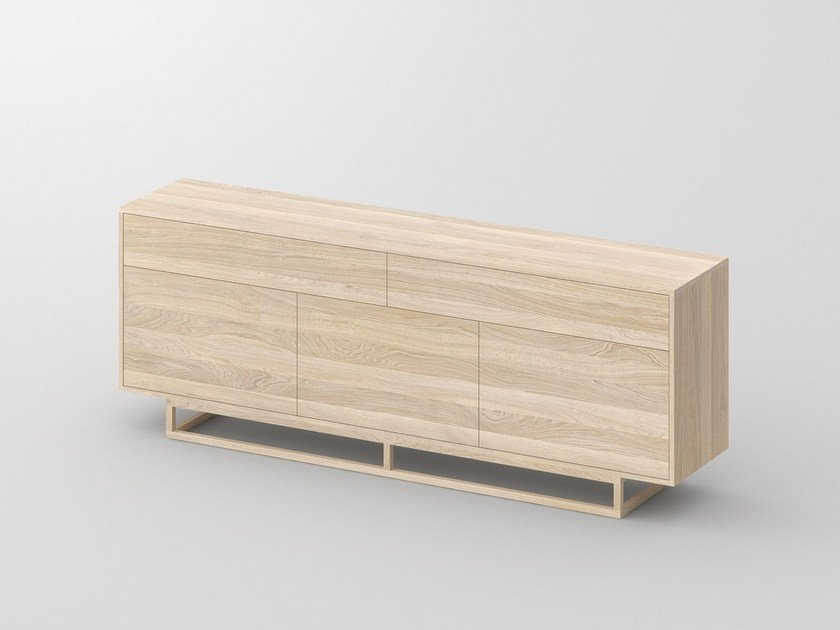 Solid wood sideboard with drawers LINEA by Vitamin Design