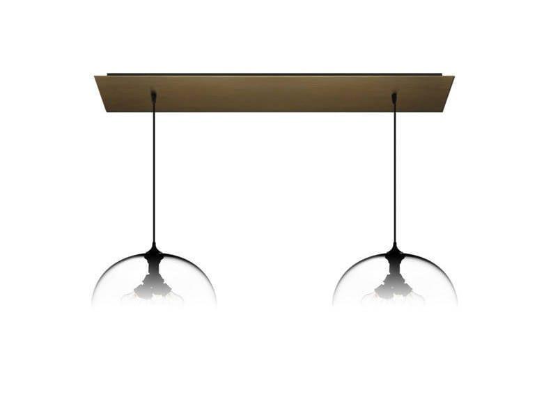 Direct light handmade blown glass pendant lamp LINEAR-2 LARGE by Niche Modern