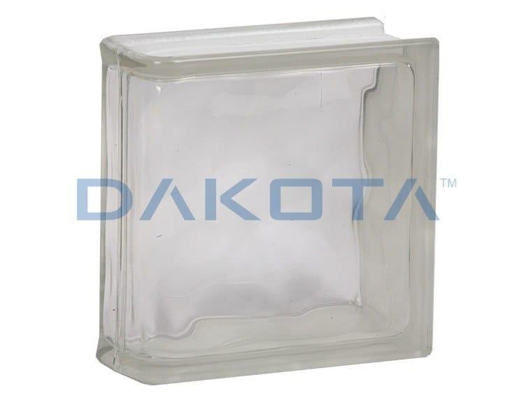 Blocco di vetro ONDULATO CHIARO TERMINALE LINEARE by Dakota