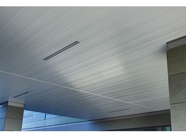 Metal ceiling tiles LINEAR CLOSED 75C 150C 225C by HunterDouglas Architectural