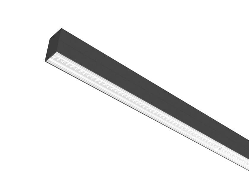 LED direct light aluminium pendant lamp LINEAR 6530 by Metalmek