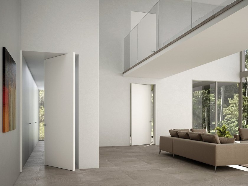 Flush-fitting pivot door LINEAR | Pivot door by Ghizzi & Benatti