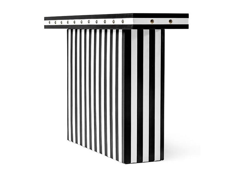 Rectangular console table LINEAR by Porustudio
