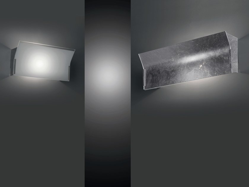 Glass wall light LINEAR by Cattaneo