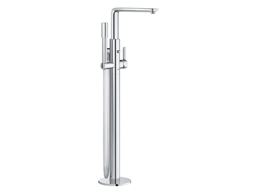 Floor standing metal bathtub mixer with diverter LINEARE NEW | Floor standing bathtub mixer by Grohe