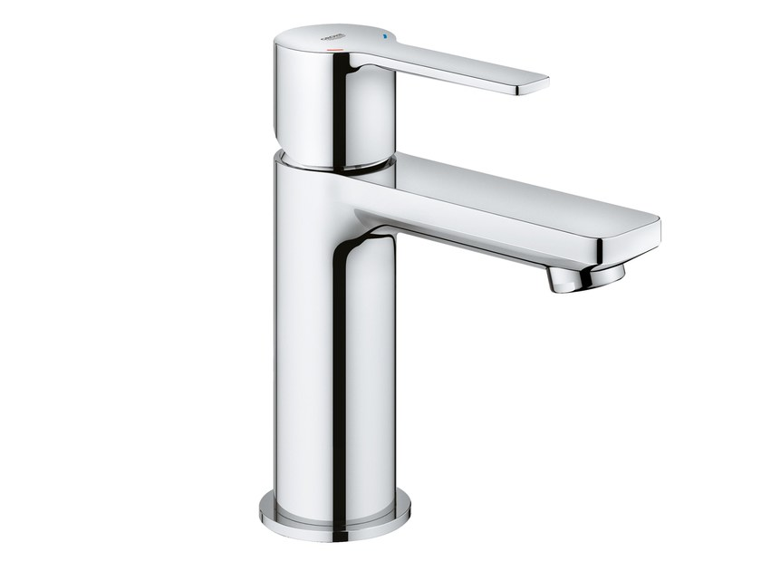 Countertop single handle washbasin mixer LINEARE NEW | Metal washbasin mixer by Grohe
