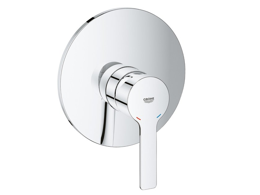 Single handle shower mixer with plate LINEARE NEW | Shower mixer with plate by Grohe