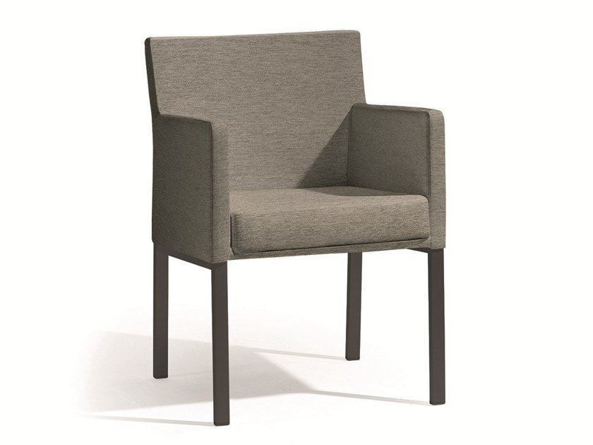Fabric garden chair with armrests LINER | Armchair by MANUTTI