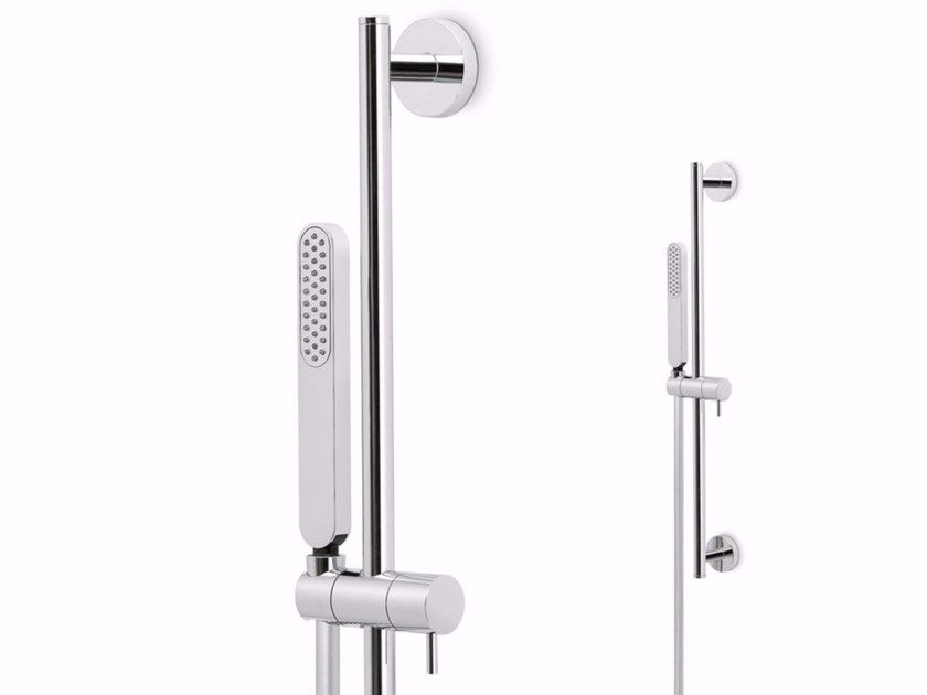 Shower wallbar with hand shower with hose LINFA | Shower wallbar with hand shower by newform