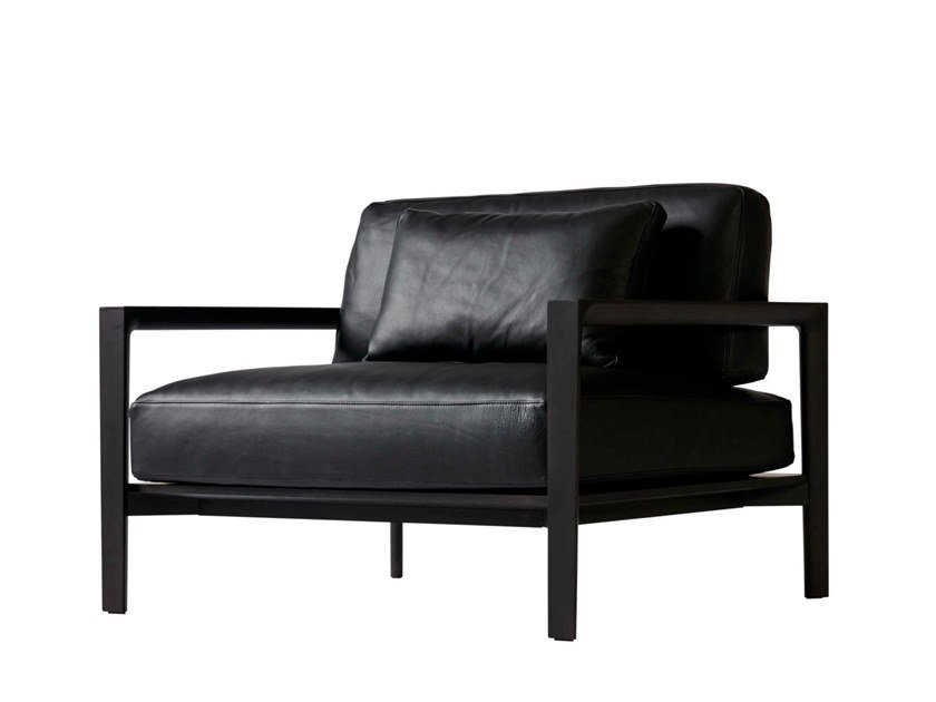 Leather armchair with armrests LING | Leather armchair by SP01