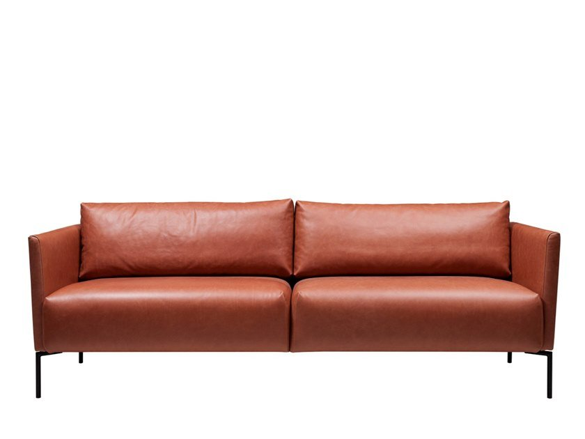 3 seater leather sofa LINJA | Leather sofa by SOFTREND