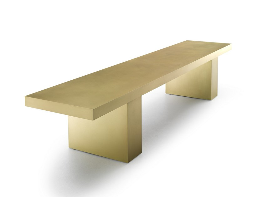 Brass bench LINK 2 | Brass bench by MDF Italia