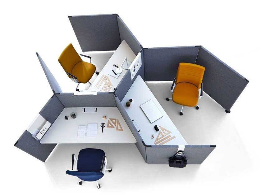 Sound absorbing workstation screen LINK by ACTIU