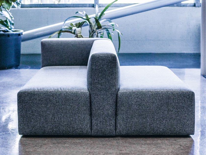 Modular fabric leisure sofa LINK by FANTONI