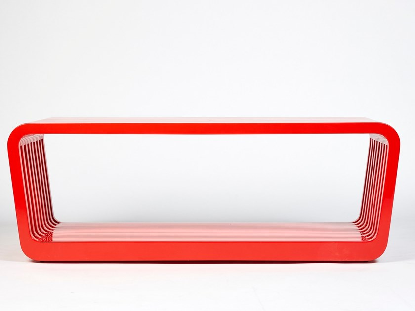 Wooden bench LINK | Lacquered bench by REDA AMALOU DESIGN