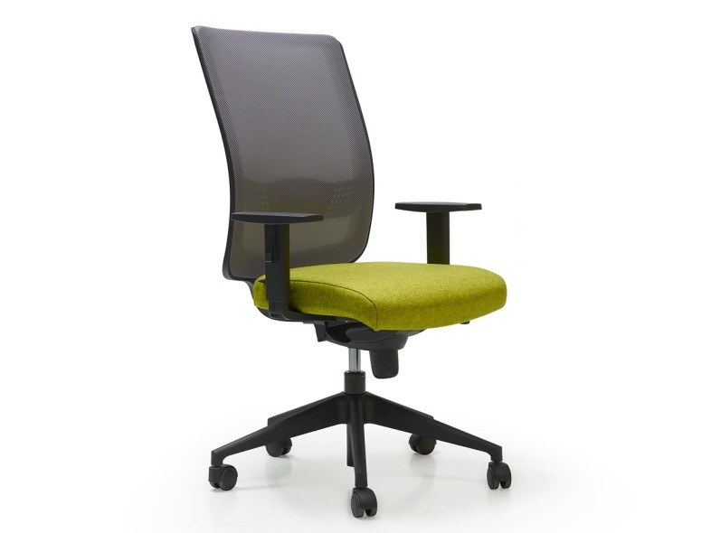 Fabric task chair with 5-Spoke base with casters LINK by Quinti Sedute