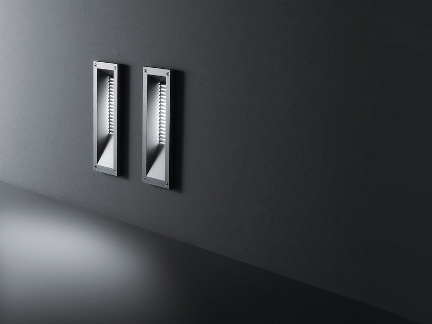 Wall-mounted die cast aluminium steplight LINK | Wall-mounted steplight by SIMES