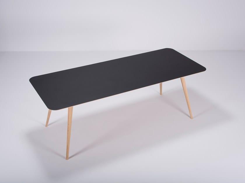 Rectangular linoleum table LINN by Gazzda