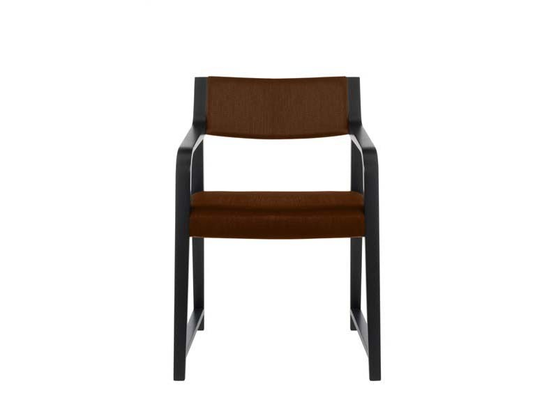 Upholstered beech chair with armrests LINUS | Chair with armrests by Potocco
