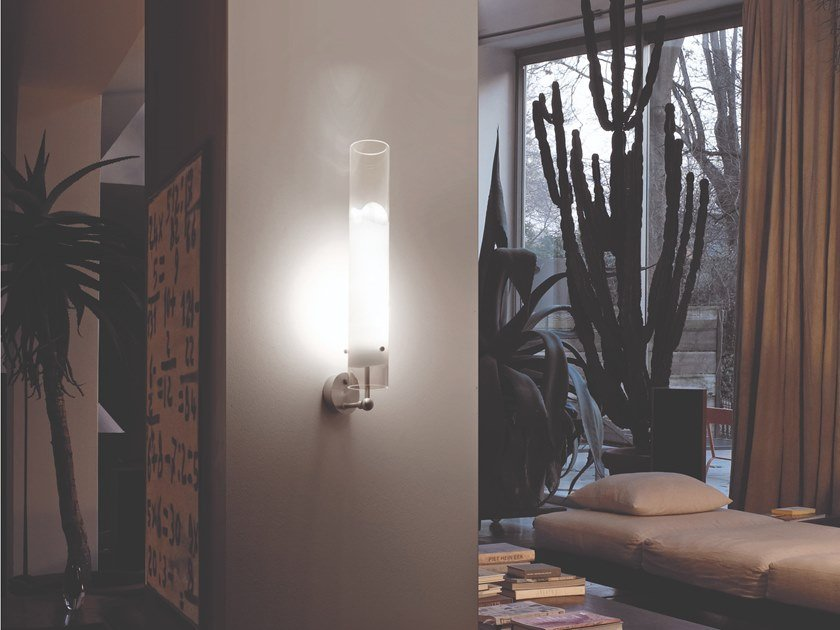 Glass wall lamp LIO AP by Vetreria Vistosi