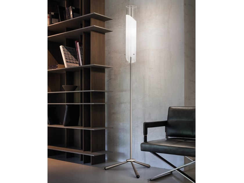 Glass floor lamp LIO PT by Vetreria Vistosi
