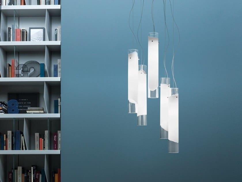 Glass pendant lamp LIO SP 5 by Vetreria Vistosi