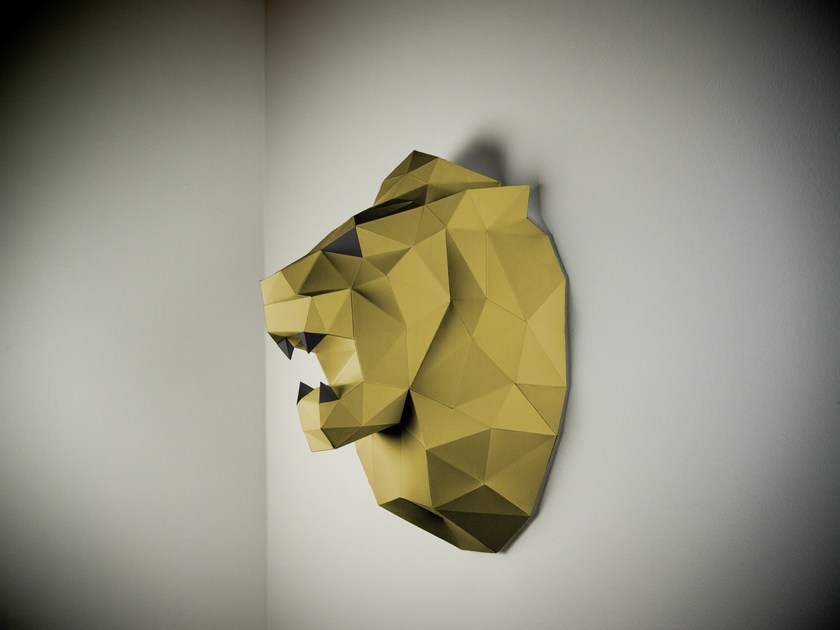 Paper wall decor item LION By Papertrophy