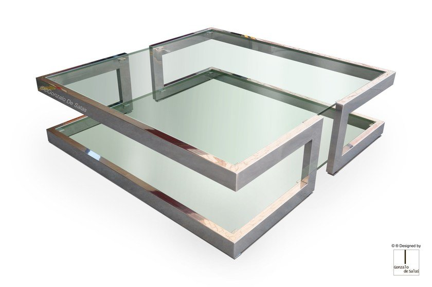Square Glass Coffee Table LISA | Coffee Table By Gonzalo De Salas