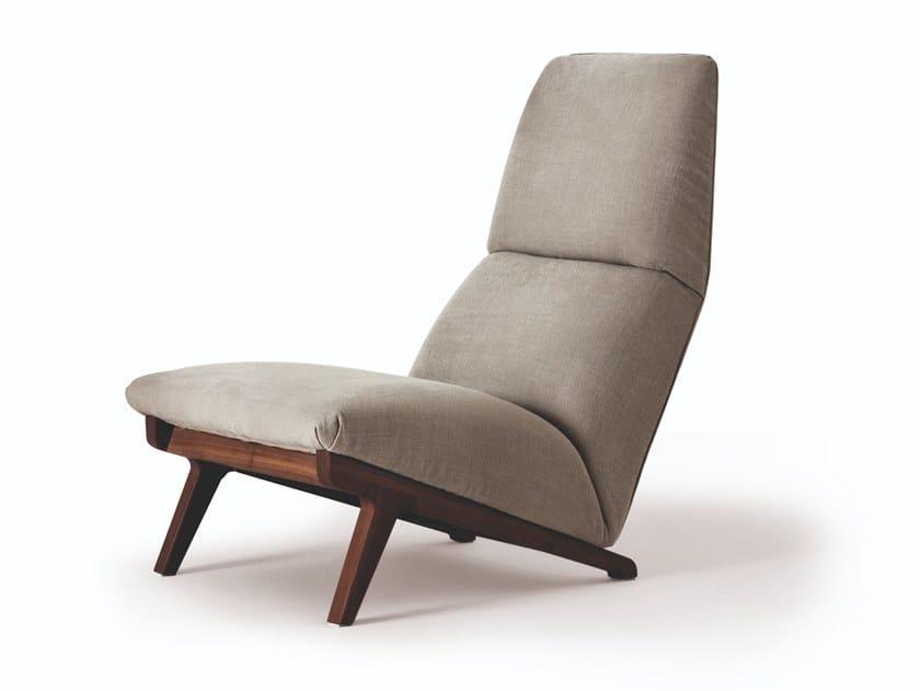 High-back armchair LISBETH by Busnelli