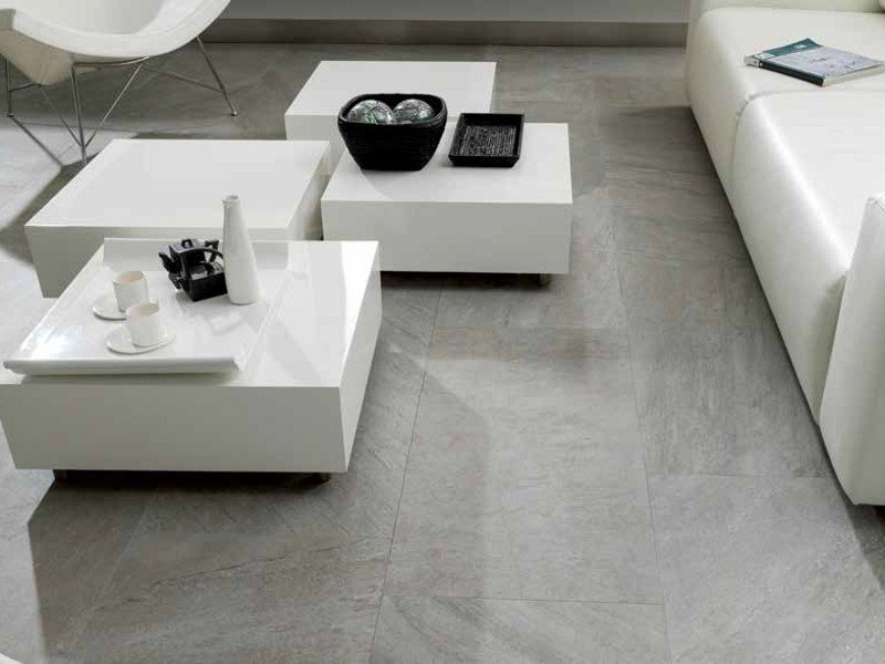 Indoor/outdoor porcelain stoneware flooring with marble effect LISBOA by Venis