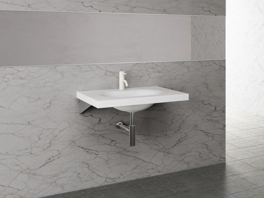 Rectangular single washbasin LISCIO by Sanwa Company