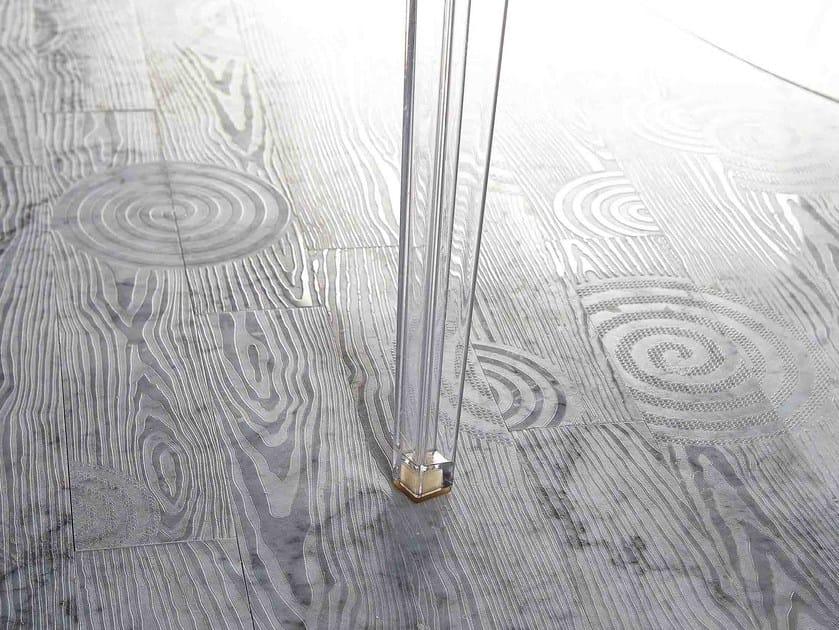 Pavimento/rivestimento in marmo effetto legno ESSENCE - LISTONE 600 by Lithos Mosaico Italia