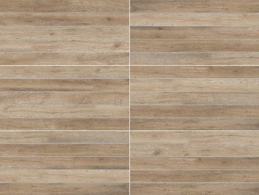 Full Body Porcelain Stoneware Outdoor Floor Tiles With Wood Effect