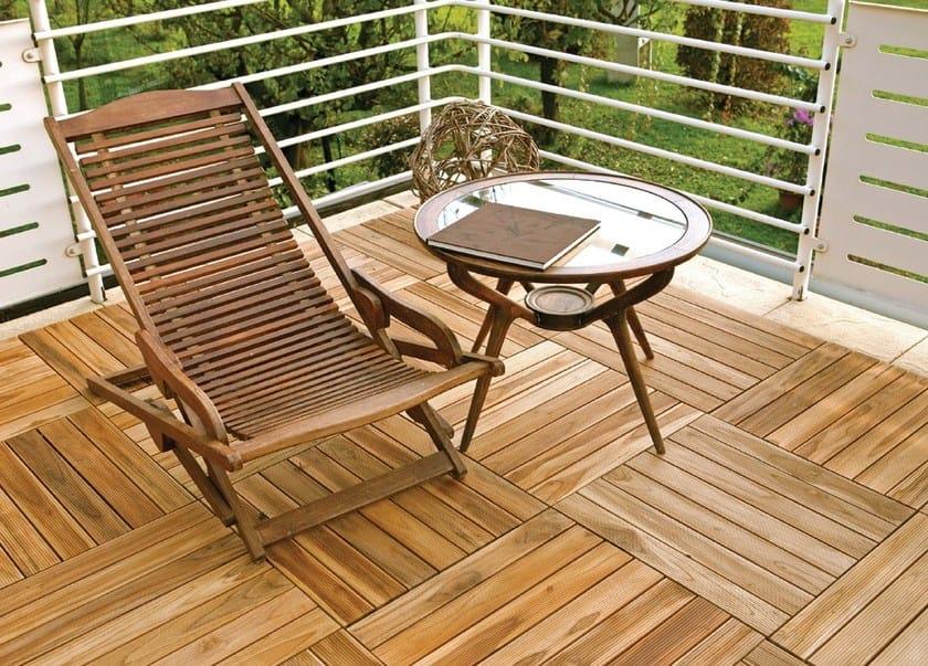 Piastra in legno per pavimentazione da giardino listoplate onek