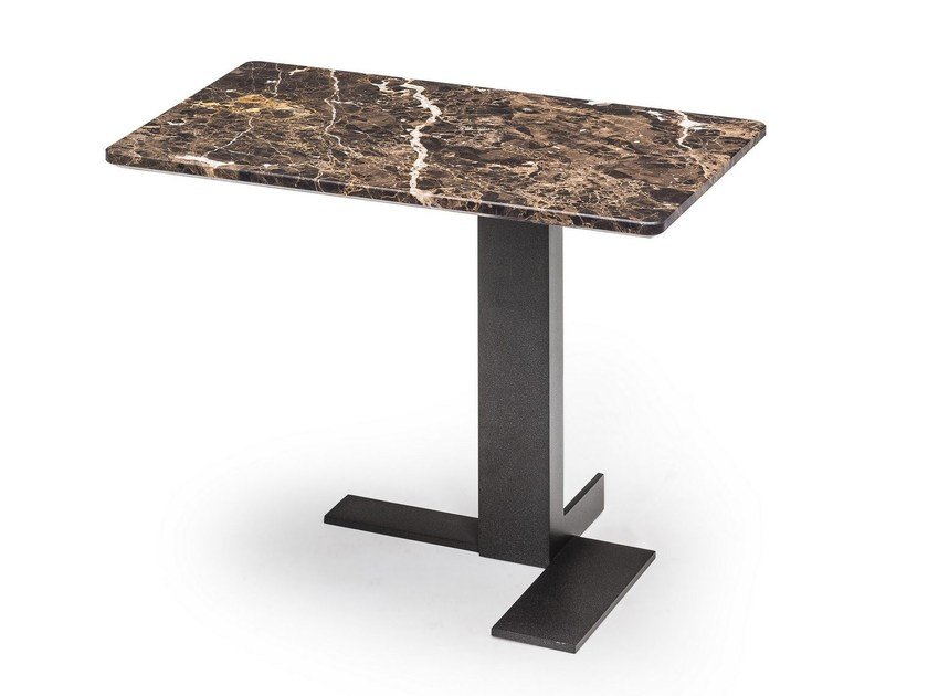 Rectangular marble side table LITH | Rectangular coffee table by Arketipo