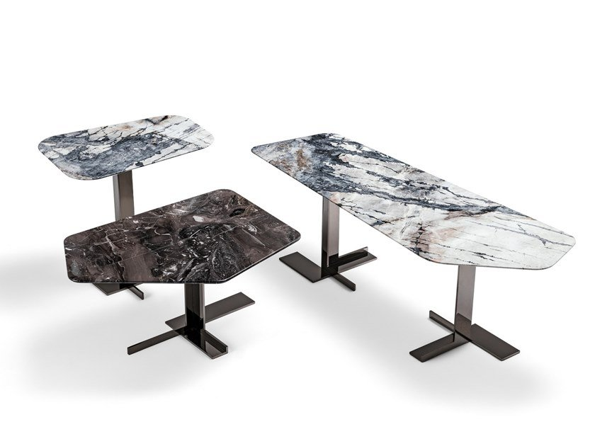 Marble coffee table for living room LITH | Marble coffee table by Arketipo