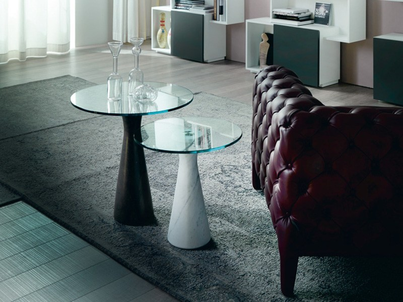 Round crystal coffee table LITRO by Cattelan Italia