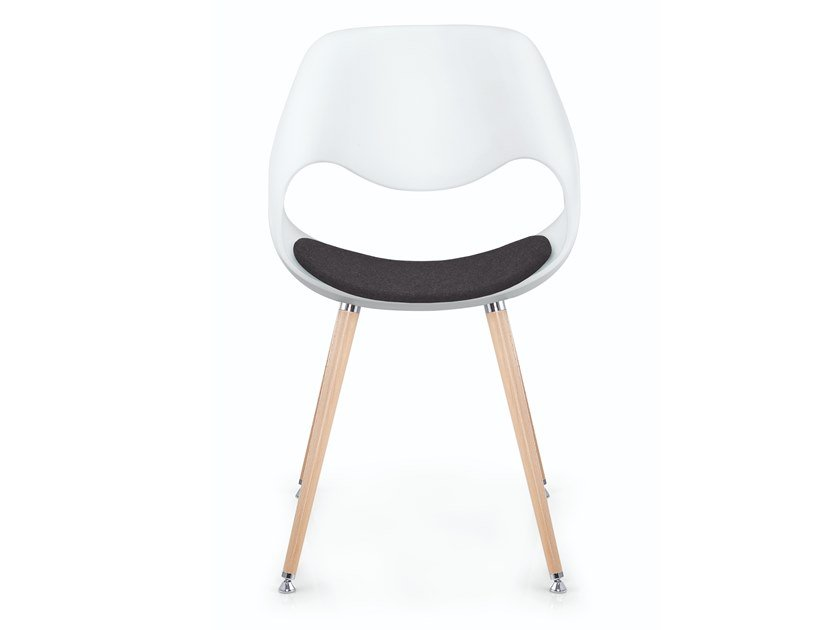 Plastic chair with integrated cushion LITTLE PERILLO XS | Chair with integrated cushion by ZÜCO